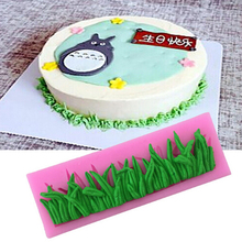Silicone Fondant Cake Mold Tree Bark Texture Grass Chocolate Mould For Kitchen Baking Cake Mould Decoration Tools QB890556(China)