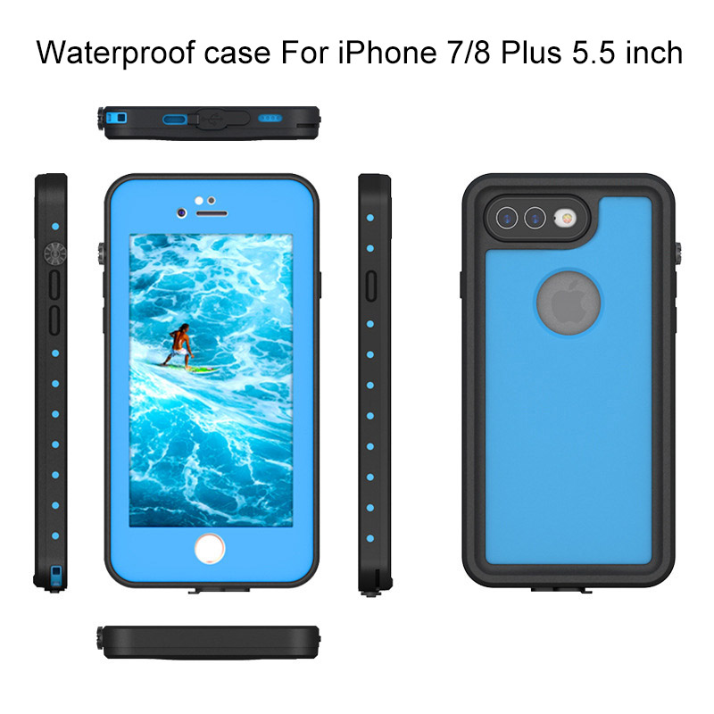 1.For iphone 7 8 plus waterproof case