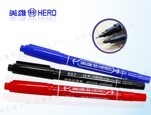 Marker Pen Dual Side Permanent Marker Pens 0.5mm Size For Writing Stationery & Painting & Promotion Gift Hero 887
