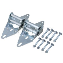 2PCS Heavy Duty Garage Door Hinges Replacement 4# Hinge with Bolt & Nut BQLZR(China)