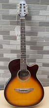 free shipping thin body 40inch electric-classic guitar with eq tuner(China)