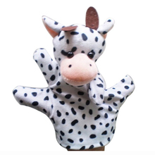 ABWE Cute Baby Child Zoo Farm Animal Hand Sock Glove Puppet Finger Sack Plush Toy NewModel:Cow(China)