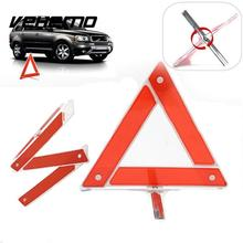 Vehemo Vehemo Car Emergency Breakdown Warning Triangle Red Reflective Safety Hazard Car Tripod Folded Stop Sign Reflector(China)
