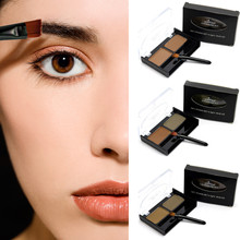 2017 New Fashion Double Eyebrow Powder Eye Brow Palette Cosmetic Makeup Beauty Shading tool Kits for women Girl as Gift