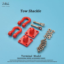 High Quality Heavy Duty And Extremly Scale King Tow Shackle with Mounting Bracket for 1/10 RC4WD D90 D110 SCX10 Wrangler