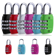 1PCS digit Alloy Suitcase Luggage Code Lock Security 3 Combination Travel Padlock Random Color(China)