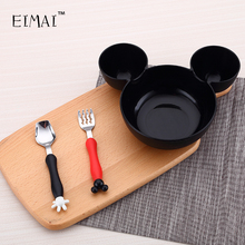 Cartoon Shape Children Dinnerware Set Baby Tableware Fork Cutlery Sets Cartoon Fork Set AA55(China)
