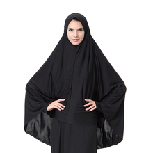 Muslim Women Black Face Cover Abaya Islamic Khimar Clothes Headscarf Robe Kimono Instant Long Hijab Arab Worship Prayer Garment