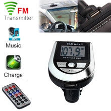 MP3 Player Wireless FM Transmitter Modulator Car Kit USB SD MMC LCD Remote May30 Factory price 2017(China)