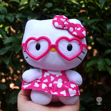 Hello Kitty Doll Plush Baby Toy For Girls Stuffed Toy Gifts Skirt glasses models(China)