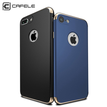 CAFELE Case for iphone 7 Luxury Original Back cover for Apple iphone 7 Plus Cases PC Hard Armor shell Logo hole