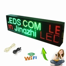 P10 Outdoor Waterproof LED Sign, Wifi Storefront Message Board, Open Sign Programmable Scrolling Display Board - RGY (Red,Green