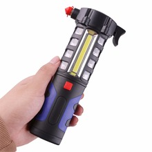 Multifunction Car Emergency Tool Escape Safety Torch Tool COB 16 LEDs Powerful Work Light Lamp Lanterna LED Flashlight(China)