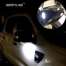 2x F-150 LED Under Mirror Light For Ford Taurus Mondeo led puddle light Turn signal lamp Car-styling auto lighting bulbs(China)
