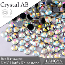 3mm SS10 Gold Light Crystal AB High Quality Hotfix Rhinestones Loose 1440pcs For Clothes