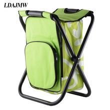 LDAJMW Outdoor Leisure Time Ice Bag Chair Portable Travel Storage Bag Foldable Backpack Fishing Chair Hiking Camping Beach