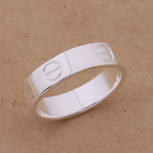Silver Ring Fashion Jewerly Ring Women&Men E /ajoajava bvuaknba AR240(China)