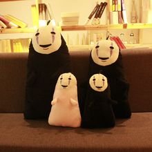 30cm Spirited Away No Face Plush Toys Stuffed Soft Cartoon Cushion Pillow Cotton Dolls Toys for Sleeping Computer pirited Awa