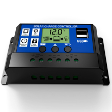 10A 20A 30A 12V 24V intelligence Solar cells Panel Battery Charge Controller Regulators LCD Display with 5V USB