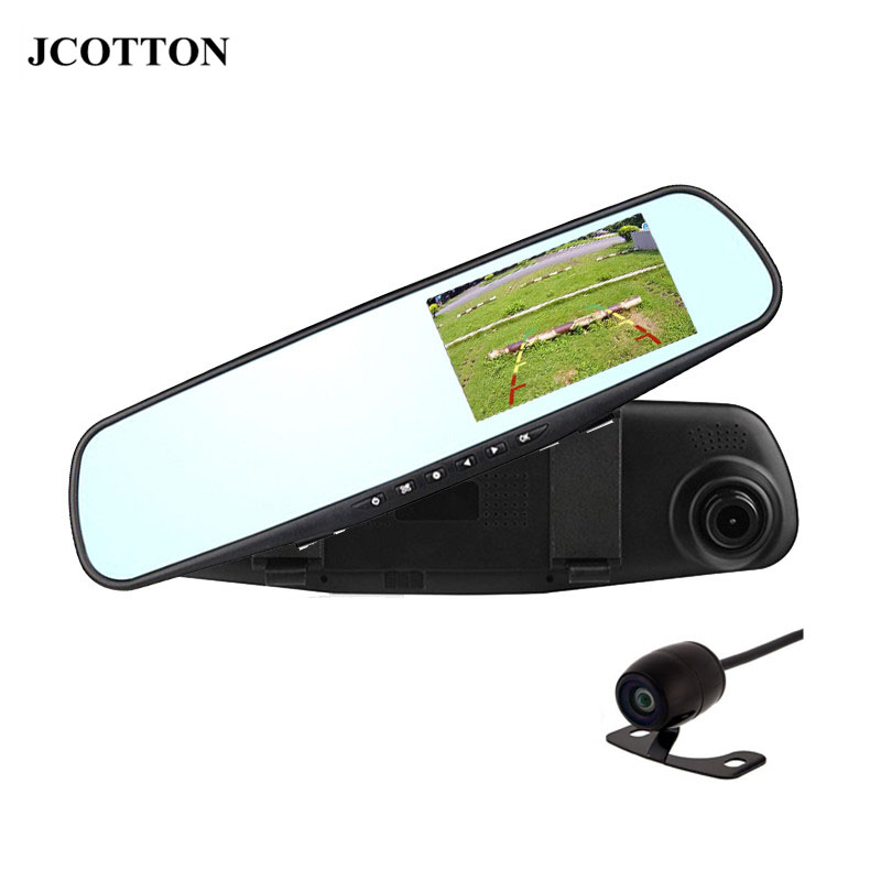 JCOTTON 4.3 Inch LCD TFT DVR High Resolution Car Rear View Dash Cam Vehicle Rearview Mirror Monitor with Rear View Car Camera(China (Mainland))