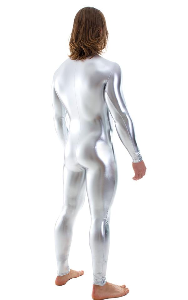 Mens-Metallic-Silver-Surfer-Bodysuit-Zentai-Catsuit-S-and-M-Costume-C1FZ-5813-R