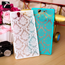 Hot Selling Palace Paper Cut Flower Hard Plastic Case for Sony Xperia Z L36h L36i C6602 C6603 Retro Pattern Mobile Phone Covers