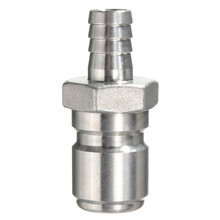 DIY 304 Stainless Steel Quick Disconnect Set Home brew Fitting Connector HomeBrewing QD Male3/8 Inch Barb - Dominating Technology Co., Ltd. store