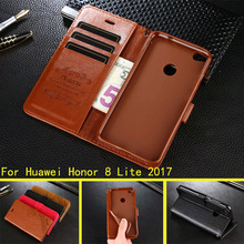 For Huawei P8 Lite 2017 / Honor 8 Lite Case Hight Quality PU Leather Stand Case Book Flip Style Mobile Phone Cases(China)
