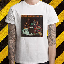 Creedence Clearwater Revival *Gold Rock Legend Men's White T-Shirt Size S-2XL New Fashion for Men Short Sleeve Brand T Shirt(China)
