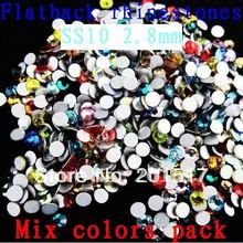 1440pcs ss10 2.7-2.9mm Strass Crystal Glass Rhinestones Mixed Colors Nail Art DIY Materials for Paillette 3D Nail Art Products