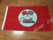 free shipping corvette stingray flag red for Car show ,90X150CM size,100% polyster,bintang