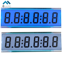 Reflection ED139 6 Digit 7 Segment LCD Display Screen Static Driving TN Positive Display 5V 137.16x46.38x2.8mm