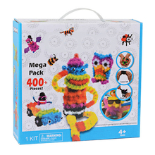 400pcs Kid Educational Assembling 3D Puzzle Toys DIY Puff Ball Squeezed Variety Shape Creative Handmade Toy Puzzles For Children