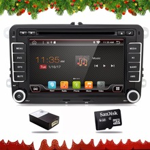 car dvd vw android 6.0 double din gps navigation Wifi+Bluetooth+Radio+quad core CPU DDR3 Capacitive Touch Screen Car PC Stereo(China)