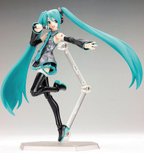 "Anime Hatsune Miku Figma 014 Anime Figure Miku PVC Action Figure Gift For Children Brinquedos Kids Toys Juguetes 6"" 15CM"