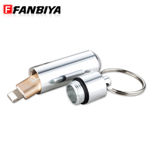 FANBIYA Micro USB OTG Adapter with Storage Bottle USB Data Transfer Quick Charger Converter Conector for iphone 7 7p 6s ipad 1/2