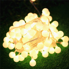 Christmas decoration supplies outdoor waterproof lighting string lantern led round ball flasher lamp set 10 meters 100 lights