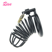 Buy Qise Stainless Steel Male Chastity Cock Cage Lock Chastity Device Penis ring cock Bird Cage Penis Rings Sexy Toy