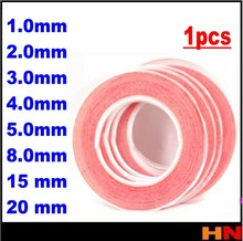 1pcs 25meter Silicone Red Double Sided Adhesive Tape Sticker High Strength Acrylic For Phone LCD Scree 1 2 3 4 5 8 15 20mm(China)