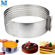 9-12 Inches Retractable Stainless Steel Circle Mousse Ring Adjustable Cake Mousse Rings Round Baking Cake Mold
