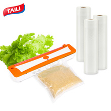 Vacuum Sealer Food Vacuum Bag Heat-Seal Sealer 220V/100W 3 Rolls Vacuum Bag 28*490cm(China)