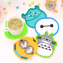New Silicone Cartoon Kawaii Totoro Hello Kitty Big Cup Coaster Nonslip Place Mat pads Cup Cushion Tea Cup Holder BD05(China)