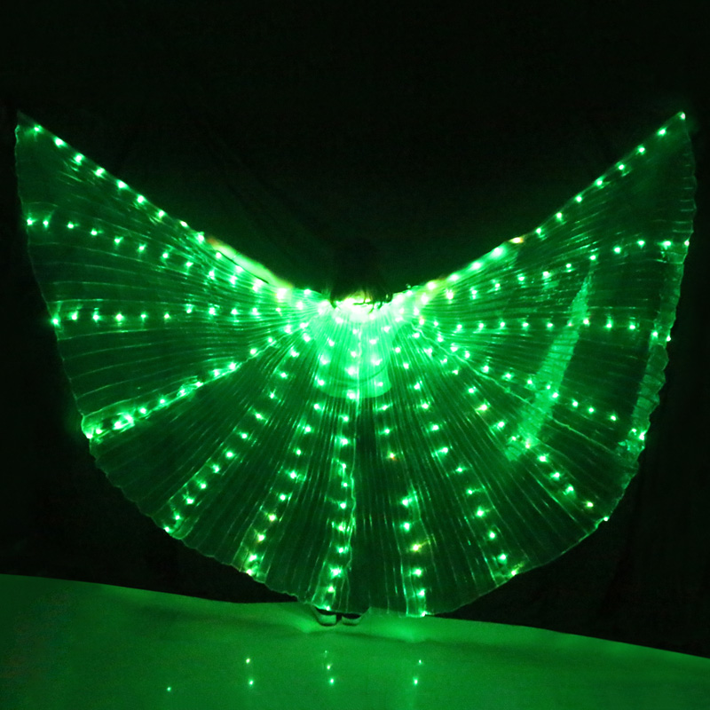 LED Wings 300 Lamp Beads 360°Opened Performance Stage Dance wear