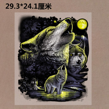 New 10PCS/1Lot  Heat Transfer  Personality 3D Wolf  Iron On Patches  DIY  Clothes T-shirt Brand  Logo Patch Applied