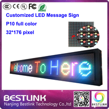 p10 outdoor led display module for led panel led message sign board 32*176 pixel led sign programmable moving open sign diy kits