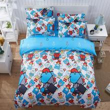 2017 Summer bedding set duvet cover queen size bed sheet classic brown grid bedspread bed linen housse de couette morden bedding(China)