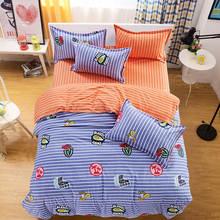 Hawaii icon striped printed bedding set comforter single twin full queen king size Children's girl's babys bedroom purple orange
