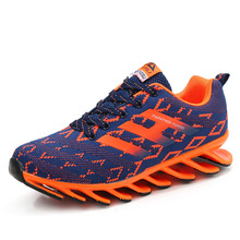 2017 Sport Running Shoes Mens Sneakers Mesh Breathable  Athletic Shoes Brand Jogging Sneakers Black Orange Training Shoes