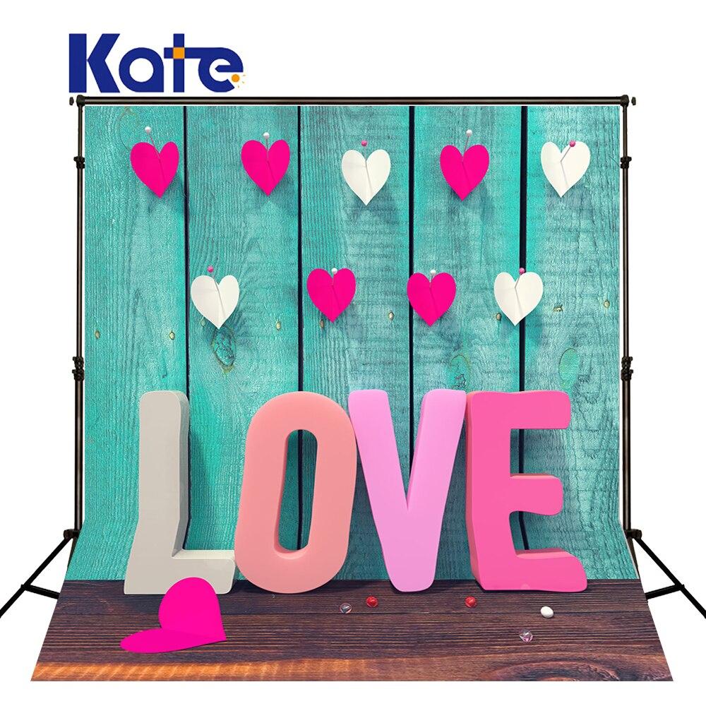 Kate Fondos De Estudio Fotografia Wood Floor Wood Wall Pink Love For Wedding Kate Background Backdrop<br>