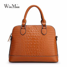 2016 fashion  Women Alligator Top-Handle Wristlets bag Female dress handbag sac a main femme de marque luxe cuir shoulder bags